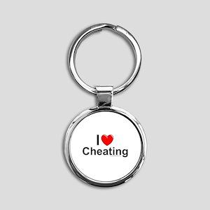 Cheating Round Keychain
