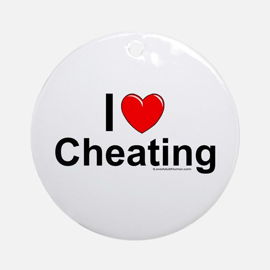 Cheating Ornament (Round)