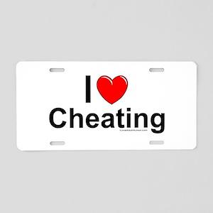 Cheating Aluminum License Plate