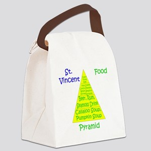 St. Vincent Food Pyramid Canvas Lunch Bag