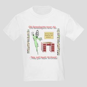 Genealogy Haunt the Archives Kids Light T-Shirt
