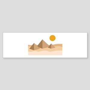 Egyptian Great Pyramids Giza Bumper Sticker