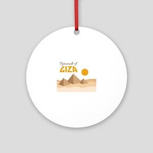 Pyramids Giza Ornament (Round)