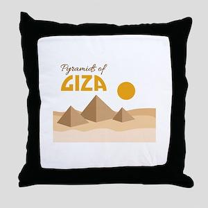 Pyramids Giza Throw Pillow