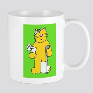 Get well soon fun cat. Mugs