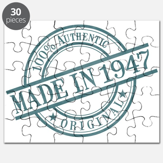 Made in 1947 Puzzle