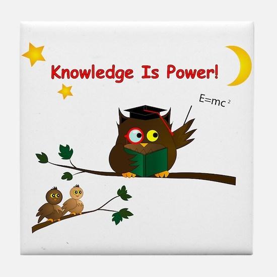 Teaching Wise Owl Tile Coaster