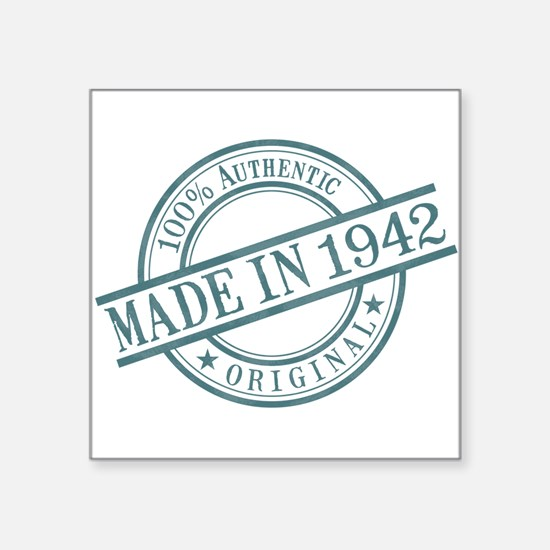 "Made in 1942 Square Sticker 3"" x 3"""