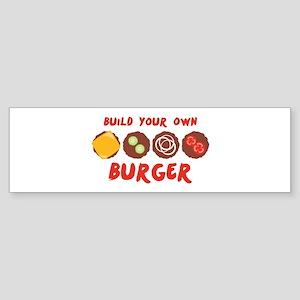 Build Your Own BURGER Bumper Sticker