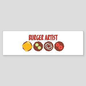BURGER ARTIST Bumper Sticker