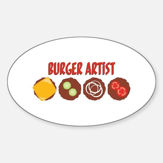 BURGER ARTIST Decal