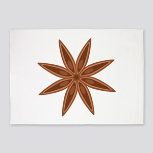 Star Anise Cooking Spice 5'x7'Area Rug