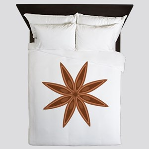 Star Anise Cooking Spice Queen Duvet