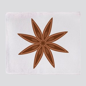 Star Anise Cooking Spice Throw Blanket