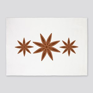 Star Anise Cooking Spice Border 5'x7'Area Rug