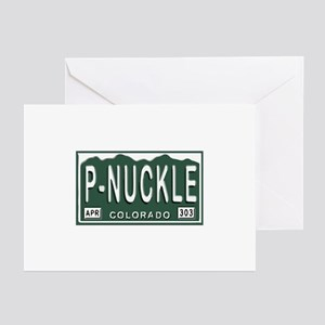 P-Nuckle Samples Colorado Plates Greeting Cards