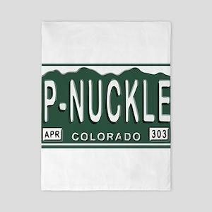P-Nuckle Samples Colorado Plates Twin Duvet