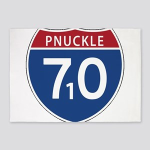 P-Nuckle i70 / 710 / Interstate 70 5'x7'Area Rug