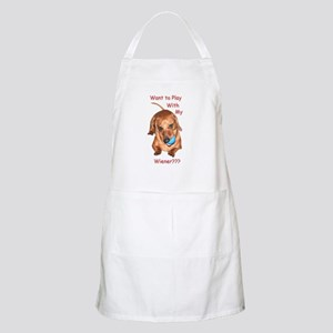 Play With My Wiener Dog BBQ Apron