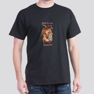 Play With My Wiener Dog Dark T-Shirt