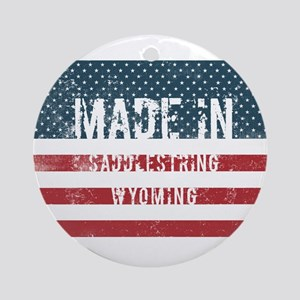 Made in Saddlestring, Wyoming Round Ornament