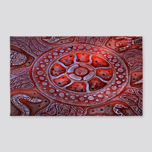 Medicine Wheel Totems Area Rug