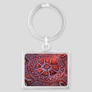 Medicine Wheel Totems Landscape Keychain
