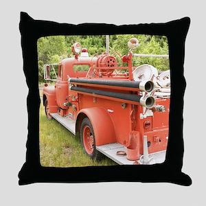 VINTAGE FIRETRUCK Throw Pillow
