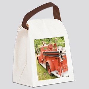 VINTAGE FIRETRUCK Canvas Lunch Bag