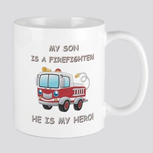 MY SON IS A FIREFIGHTER Mug