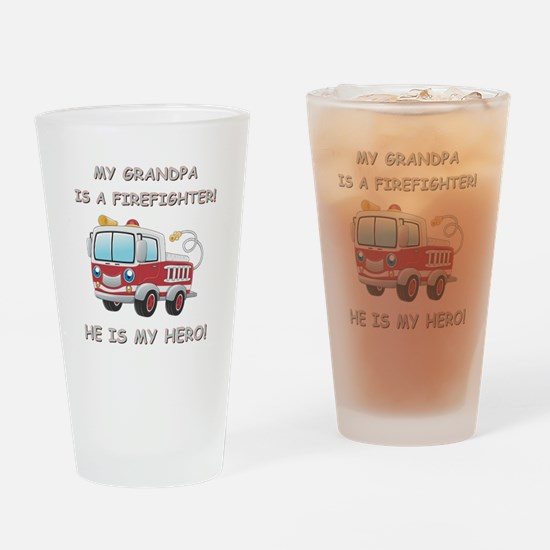 MY GRANDPA IS A FIREFIGHTER Drinking Glass