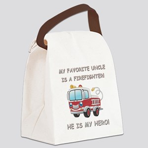 MY FAVORITE UNCLE IS A FIREFIGHTE Canvas Lunch Bag