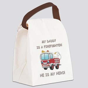 MY DADDY IS A FIREFIGHTER Canvas Lunch Bag