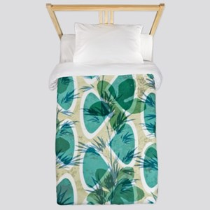 Pretty Bamboo Floral Pattern in Pastel  Twin Duvet