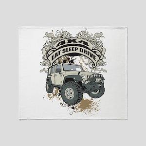 Eat Sleep Drive 4x4 Throw Blanket