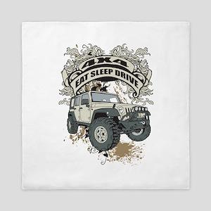 Eat Sleep Drive 4x4 Queen Duvet