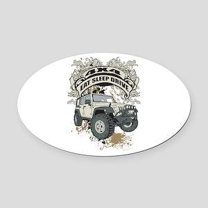 Eat Sleep Drive 4x4 Oval Car Magnet