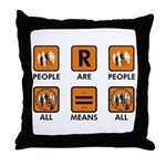 People Are People Throw Pillow