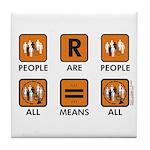 People Are People Tile Coaster