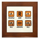 People Are People Framed Tile