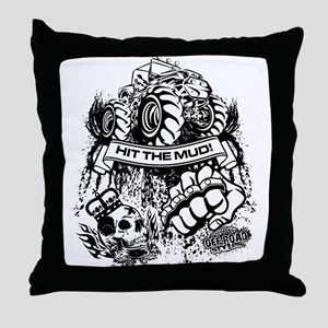 Hit The Mud Jeep Throw Pillow
