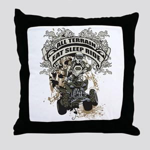 Eat Sleep Ride ATV Throw Pillow