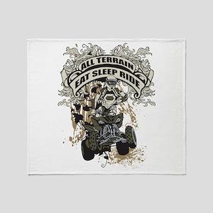 Eat Sleep Ride ATV Throw Blanket