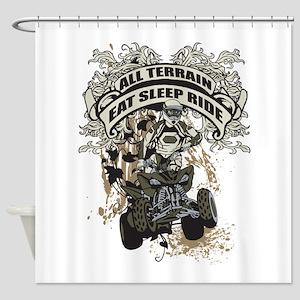 Eat Sleep Ride ATV Shower Curtain