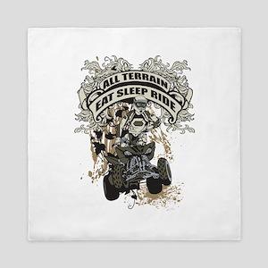 Eat Sleep Ride ATV Queen Duvet