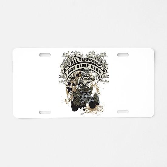 Eat Sleep Ride ATV Aluminum License Plate