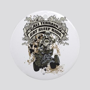 Eat Sleep Ride ATV Ornament (Round)