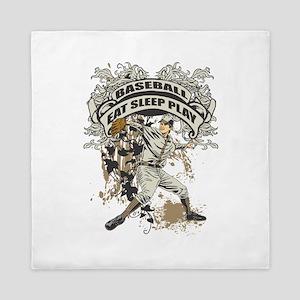 Eat Sleep Play Baseball Queen Duvet