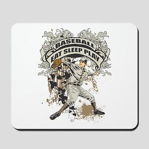 Eat Sleep Play Baseball Mousepad
