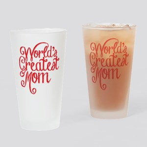 World's Greatest Mom Drinking Glass